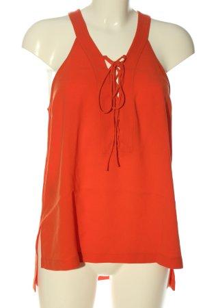 BCBG Maxazria Blusa senza maniche arancione chiaro stile casual
