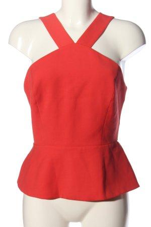 BCBG Maxazria Blusa senza maniche rosso elegante