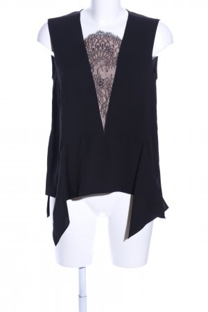BCBG Maxazria ärmellose Bluse schwarz Elegant