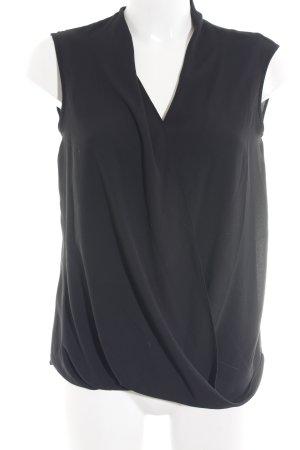 BCBG Maxazria ärmellose Bluse schwarz schlichter Stil