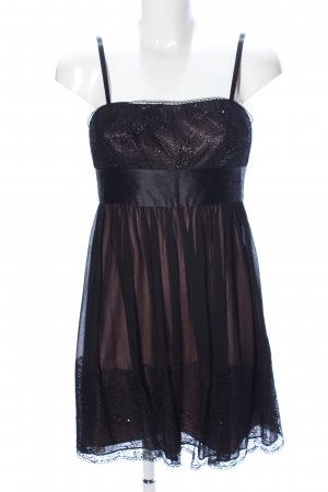 BCBG Maxazria Babydoll Dress black wet-look