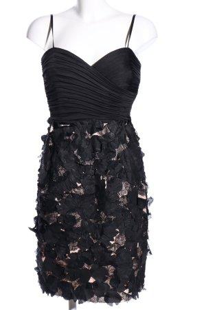 BCBG Maxazria Bandeau Dress black-pink flower pattern elegant