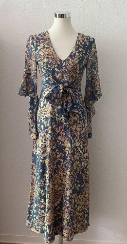 BCBG MaxAzria Beverle Kleid Bodenlang Maxikleid Silk 36 S