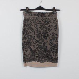 BCBG Maxazria Jupe crayon noir-vieux rose tissu mixte