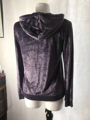 BCBG Maxazria Giacca con cappuccio viola scuro