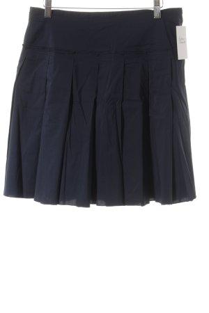 BCBG Maxazria Plaid Skirt dark blue simple style