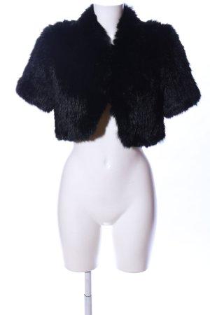 BCBG Maxazria Fur vest black casual look