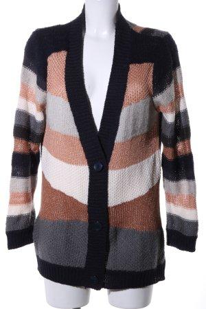 BCBG Maxazria Crochet Cardigan striped pattern casual look
