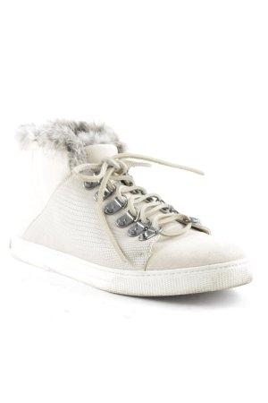 BCBG Maxazria High Top Sneaker creme Fellbesatz