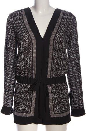 BCBG Maxazria Jumpsuit black-white allover print casual look