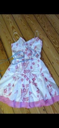 BCBG Maxazria Bustierjurk roze-wit Katoen