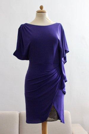 BCBG Maxazria Robe de cocktail violet foncé polyester