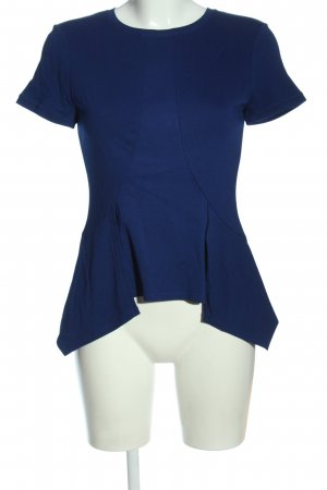 BCBG Maxazria Kurzarm-Bluse blau Business-Look