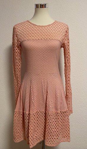 BCBG Maxazria Gebreide jurk rosé Katoen