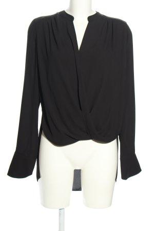 BCBG Maxazria Langarm-Bluse schwarz Business-Look