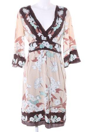 BCBG Maxazria Robe à manches longues motif de fleur style décontracté