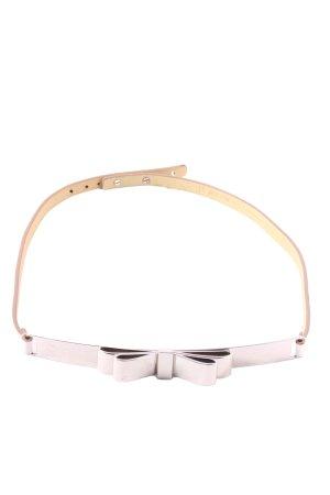 BCBG Maxazria Leather Belt white elegant