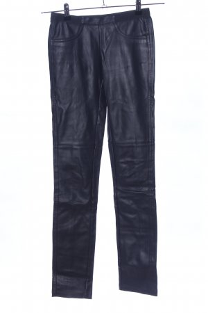 BCBG Maxazria Pantalon en cuir bleu style décontracté