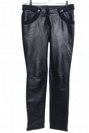BCBG Maxazria Pantalon en cuir noir style décontracté