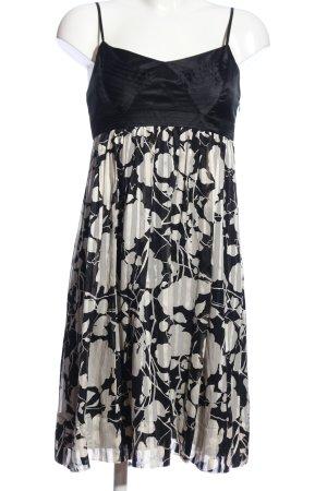 BCBG Maxazria Midi-jurk zwart-wit abstract patroon casual uitstraling