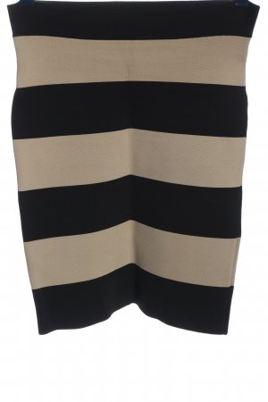 BCBG Maxazria Stretch Skirt natural white-black striped pattern casual look