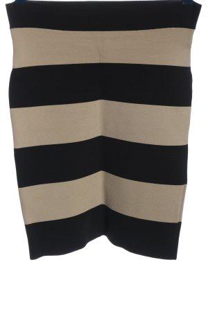 BCBG Maxazria Falda stretch blanco puro-negro estampado a rayas look casual