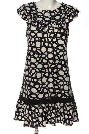 BCBG Maxazria Mini Dress black-white allover print casual look
