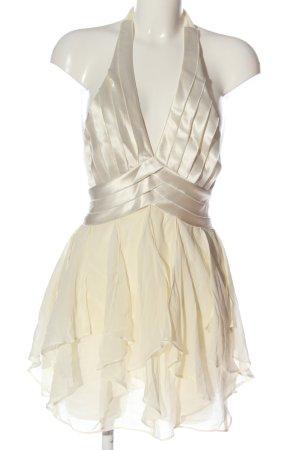 BCBG Maxazria Neckholderkleid silberfarben-wollweiß Elegant