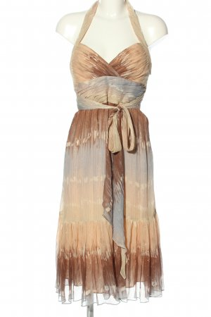 BCBG Maxazria Vestido de cuello Halter estampado a rayas estilo extravagante