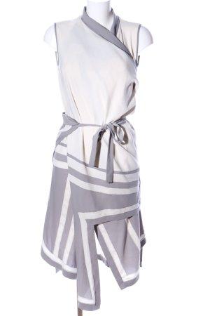 BCBG Maxazria Veste oversize gris clair-blanc élégant