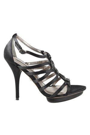 BCBG Maxazria Riemchen-Sandaletten schwarz extravaganter Stil
