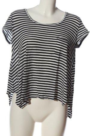 BCBG Maxazria T-shirt rayé noir-blanc motif rayé style décontracté