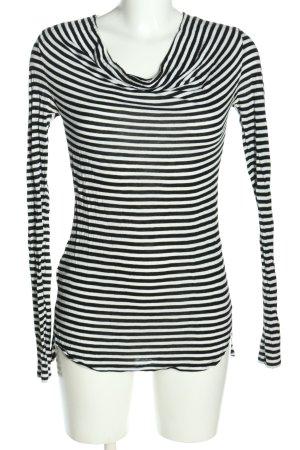 BCBG Maxazria Stripe Shirt black-white striped pattern casual look
