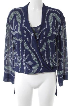 BCBG Maxazria Schlupf-Bluse abstraktes Muster Casual-Look