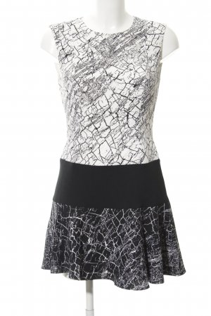 BCBG Maxazria Peplum Dress black-white mixed pattern casual look