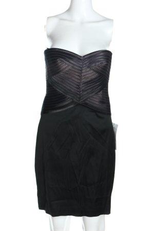 BCBG Maxazria Abito senza spalle nero-lilla elegante