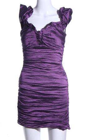 BCBG Maxazria schulterfreies Kleid lila Elegant