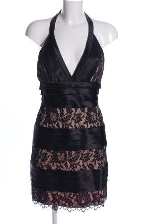 BCBG Maxazria Kanten jurk zwart-roze elegant