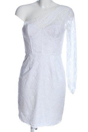BCBG Maxazria Koronkowa sukienka biały Wzór w kwiaty Elegancki