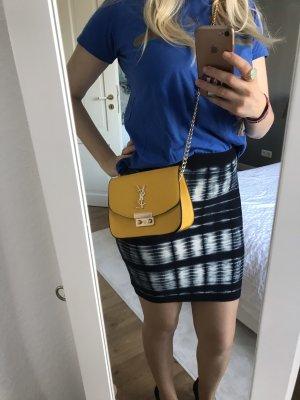 BCBG Maxazria Stretch Skirt white-dark blue