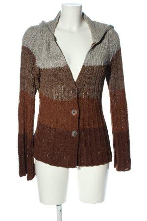 BCBG Maxazria Cardigan light grey-brown striped pattern casual look