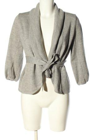BCBG Maxazria Giacca in maglia grigio chiaro puntinato stile casual