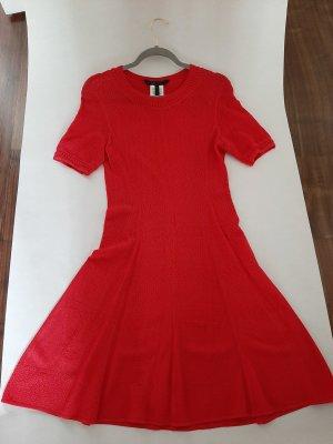 BCBG Maxazria Knitted Dress brick red viscose