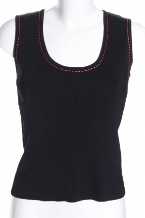 BCBG Maxazria Knitted Top black-pink casual look