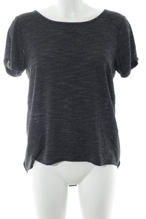 BCBG Maxazria T-Shirt grau-schwarz schlichter Stil