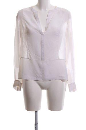 BCBG Maxazria Transparenz-Bluse weiß Casual-Look