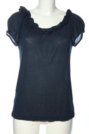 BCBG Maxazria Boatneck Shirt blue casual look