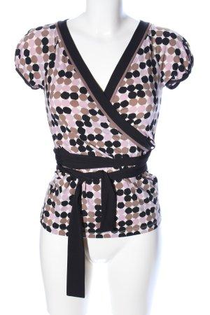 BCBG Maxazria V-Neck Shirt spot pattern casual look