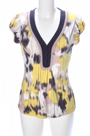 BCBG Maxazria V-Neck Shirt abstract pattern casual look