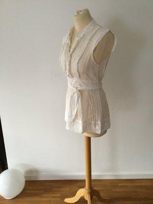 BCBGMAXAZRIA Top koszulowy biały Bawełna